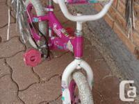 bike barbie pink ,(training wheels)is always