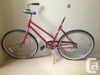 I have a bike frame for sale.  It's a single speed, red