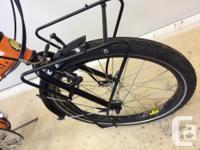 High quality folding bike, complete with travel case