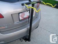 This two-bicycle carrier is made in Canada by Norco out
