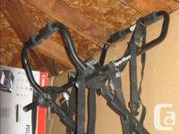 Used only once . Rear mount bike rack with owners