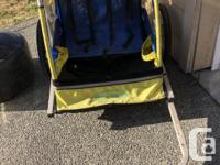 Fair weather only bike trailer for sale. The front