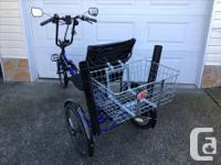 "Belize Tri-Rider R-2, 21 speed electric trike, 20"""