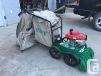 BILLY GOAT LAWN VAC FOR SALE - 5.5 HP HONDA MOTOR, ONLY