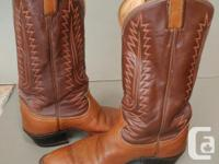 Pair of Tony Lama western boots style 6210. In good