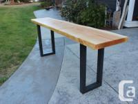 "Beautiful custom made solid 2 1/2"" slab Birch runner"