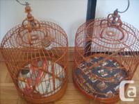 3 Chinese style bird cages for small bird. 2 come with