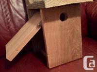 Custom made Cedar Bird houses. Get ready for Summer