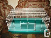 "Large Bird Cage Color Green and white Dimensions 27""L,"