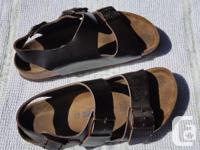 Birkenstock Sandals with back, size 38, Brown Milano