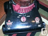 Bissell Bagless Vacuum. 12 amp and goes well Comes from