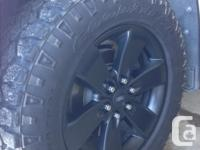 """Black 20"""" F150 Appearence package rims off a 2014 f150"""