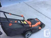 Black and decker power drive lawn mower. Only a year