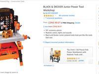 Black and Decker Junior Power Tool Workshop - 50+
