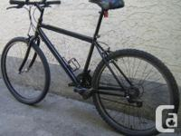 Black bike with 26 inch tires This bike, like all the