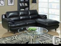 Black Bonded Leather / Match Sectional