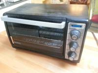 Black & Decker toaster oven for counter-top use.