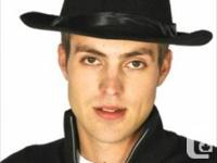 Clearout special- Black flocked velour FEDORA hats on