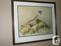 Framed Limited edition print originally painted as an