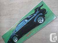 Black Lamborghini poster for sale. It's laminated,