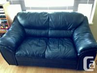 Gently used leather couch and loveseat for sale.
