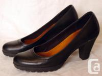 For sale is a pair of black heels, see photo for