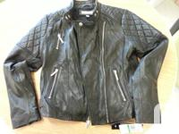 Brand name brand-new natural leather jacket available