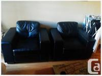 I have 2 black leather-look chairs for sale that I have