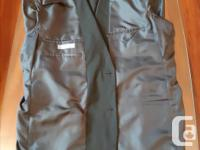 Solid black men's suit. Worn only 1 time - great