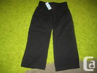 Black Old Navy Straight Leg Cotton Trousers - 3T Girls