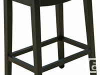 Backless Leather Bar Stool n Counter Stool in Brown or