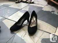 Two pair of black heels. The first (pic #1 and 2)is