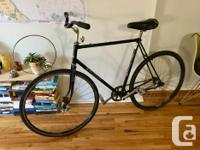 Selling my boyfriend's Raleigh fixie bike (he switched
