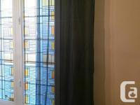 Selling 2 panels of sheer black panels with a little