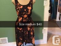 Beautiful black dress - size m - with bleach out