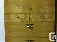 Blonde Oak Dresser Set. Has a few scrapes and scratches