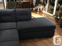 Blue couch purchased brand new a few months ago for