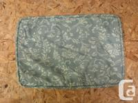 Blue and Ivory Floral Pillow Covers Measures 19 inches