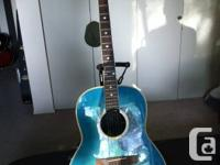 Lovely Blue Ovation Applause Acoustic-Electric Guitar.