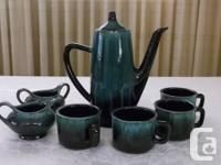 Vintage Blue Mountain/Evangeline Pottery Coffee Set. No