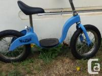 Blue kids kazan glider bike. Ideal for 2-4 year old