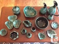 Genuine Blue Mountain Pottery. 16 pieces, from smoke