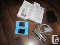 Blue Nintendo DS, in terrific condition. Possesses