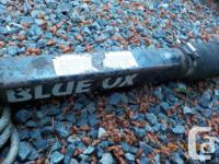 Blue Ox Tow Bars with safety chains and receiver for