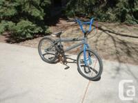 All BMX bikes have 20 inch wheels: Blue BMX, 17 inch
