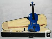 Blue Violin Full Size and 3/4 Size $119.00 All solid