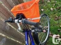 Blue Women's Mountain Bike. 18 spd. Suitable for approx