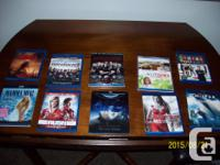 BLUERAY MOVIES, DVDS, TV BOXSETS 10.00 EACH ALL MINT