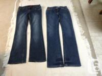 pair blue jeans on right is American Flavour size 9-10,