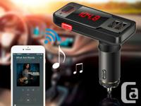 Bluetooth FM Transmitter With Dual USB Car Charger -